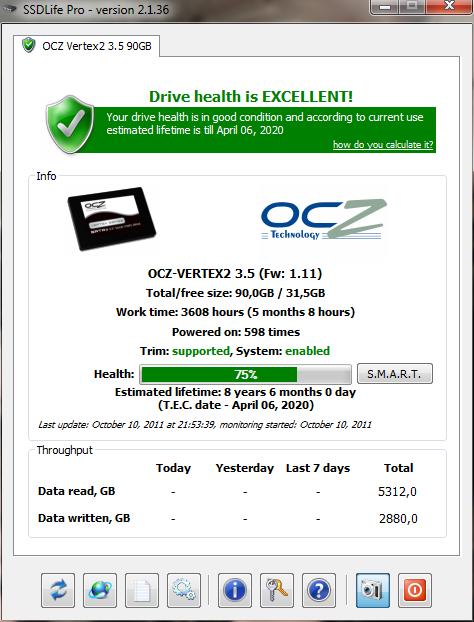 Analyser l'état de son disque dur SSD avec SSD LIife