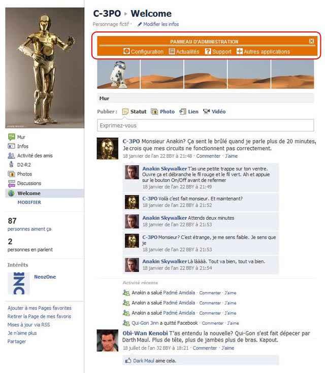 Fausse page de profil D2R2 en flash