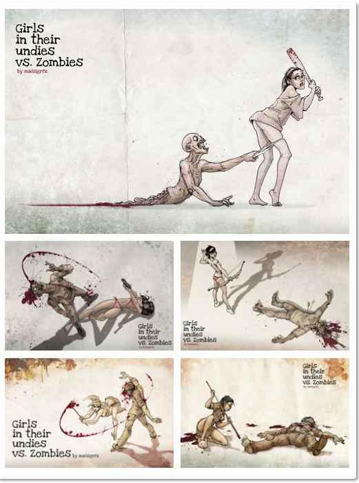 Les dessins de Babes Vs Zombies