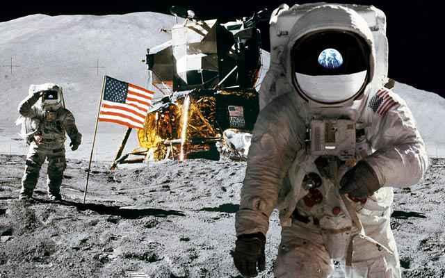 Les hommes sur la Lune