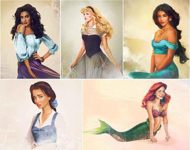 Les princesses Disney dans la vraie vie