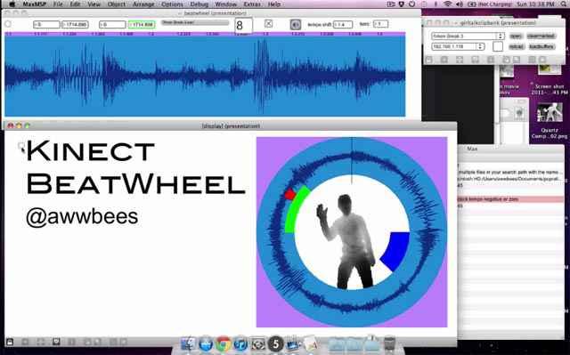 Kinect BeatWheel   Jouer et composer de la musique avec les mains