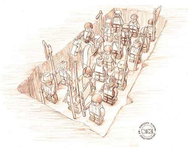 L'armée de terre cuite du mausolée de Xi'anen Lego