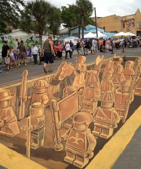 Festival de Chalk, l'armée en Lego