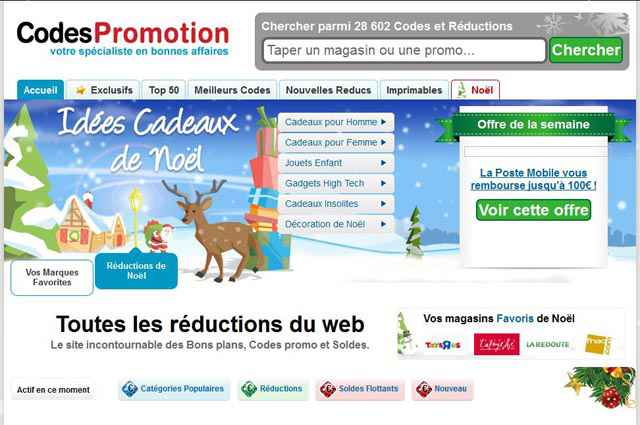 CodesPromotion.fr, les codes de promotion du net