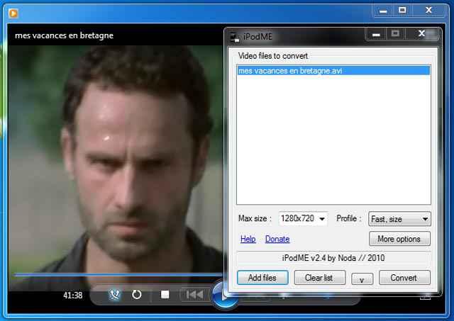 convertir un AVI en MP4 facilement avec iPodMe
