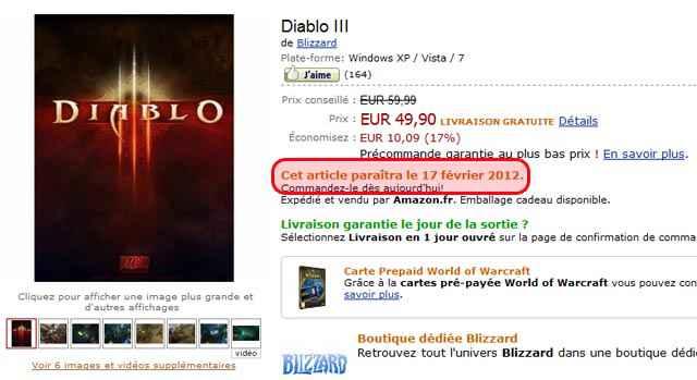 Date de sortie de Diablo III