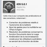 MAJ ios 5.0.1 firmware