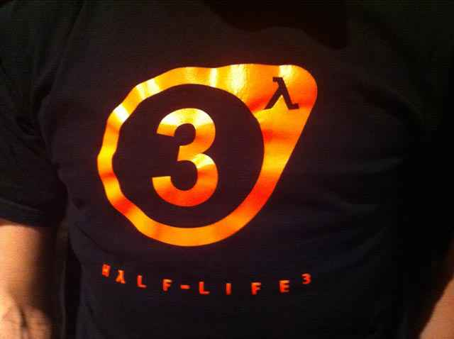 Half life 3 sur un tee shirt