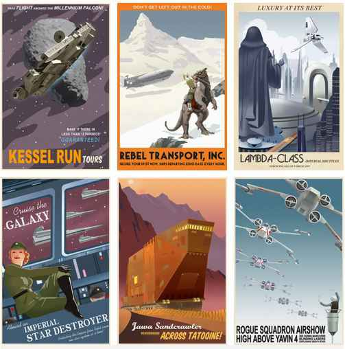 Des affiches Star Wars vintage