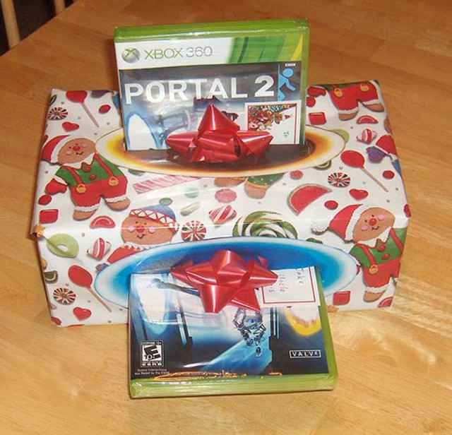 Le jeu Portal coupé en deux