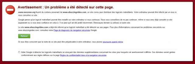Google chrome bloque la régie Ebuzzing