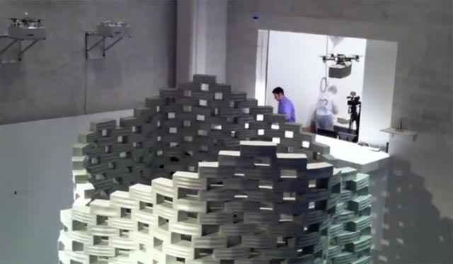 Un sculpture réalisée à l'aide de drones
