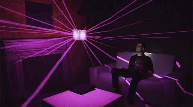 Un holodeck en projection cartographique 3D