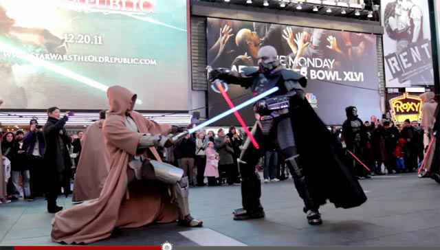 Jedi vs Sith - Un flash mob pour SWTOR à New York