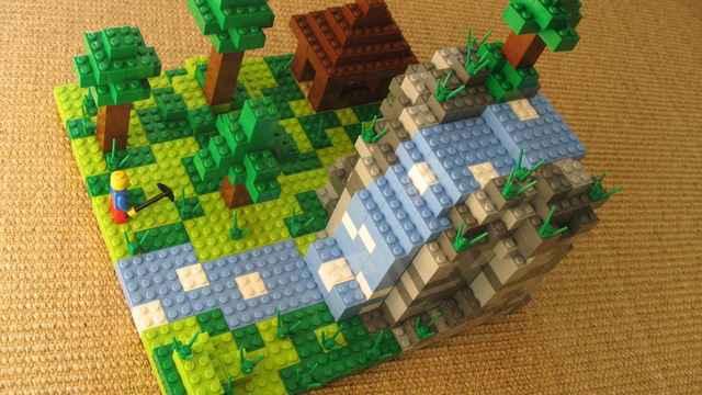 Lego et Minecraft dans le même jeu