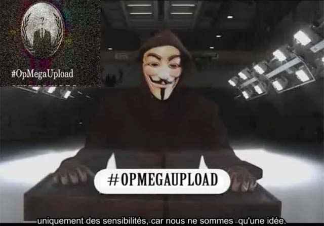 #opMegaUpload - Le message d'Anonymous aux Médias