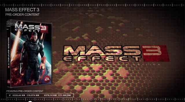 Mass Effect 3 - Des items exclusifs pour les précommandes