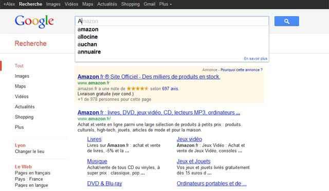 L'alphabet selon Google