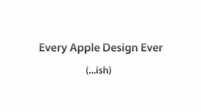 Tout le design Apple en 30 secondes