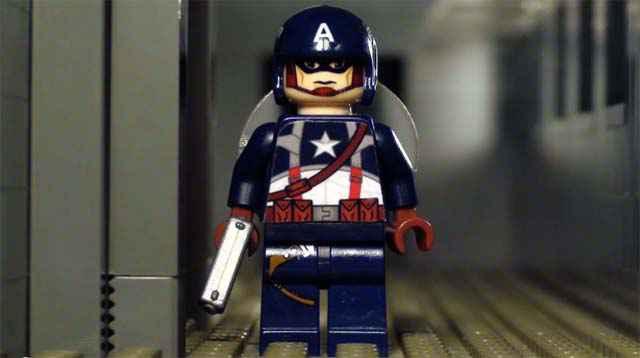Captain America dans une version Lego bien sanglante