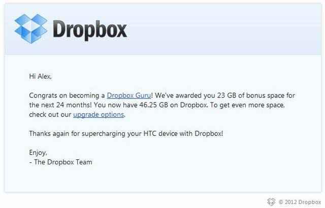 Dropbox - Ajouter gratuitement 23GO de stockage