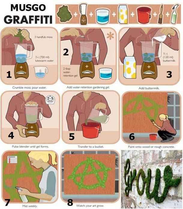 Comment créer des graffitis « propres » avec de la mousse naturelle