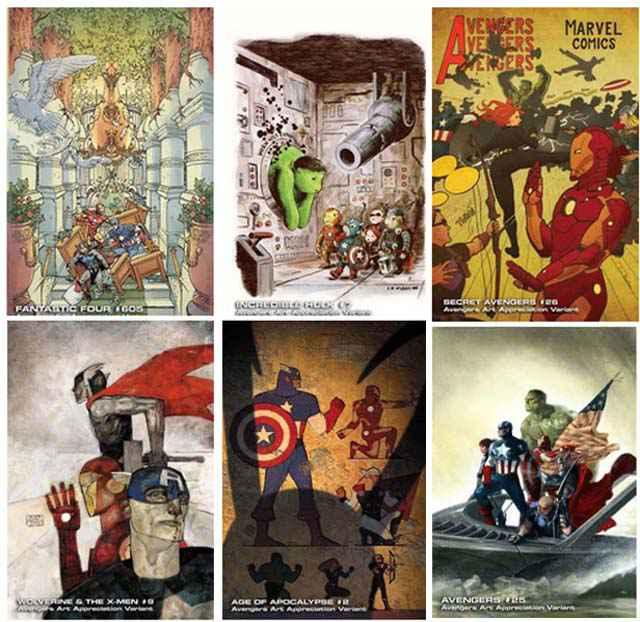 Marvel - Avengers Art Appreciation Variantes