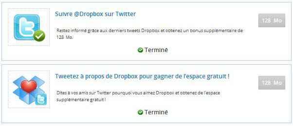 Dropbox - Obtenir gratuitement 640 Mo d'espace supplémentaire