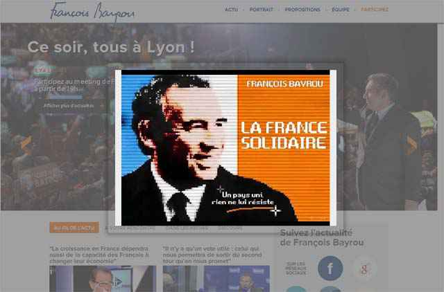 Konami Code - Bayrou.fr