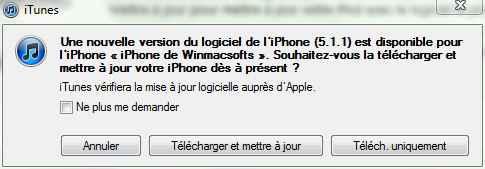 Télécharger la mise à jour iOS 5.1.1 (firmware)