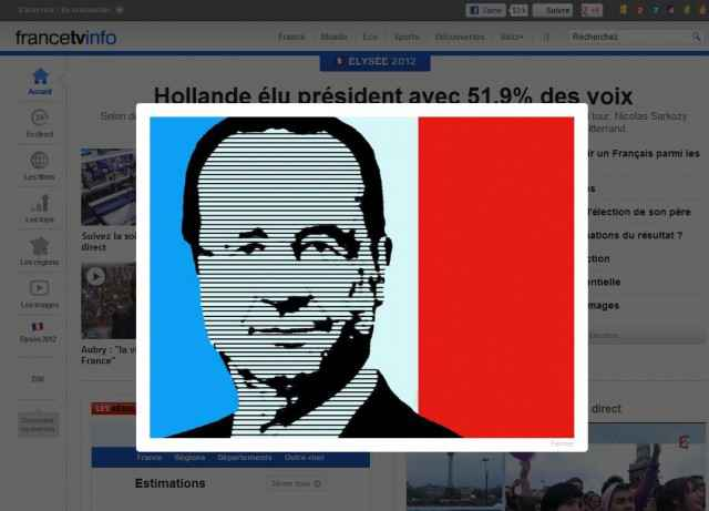 Hollande élu président - Le Konami Code de FranceTV