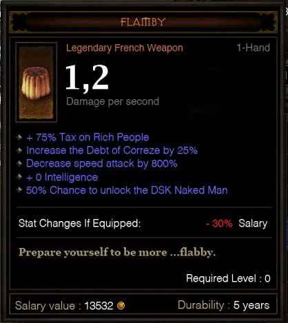 Diablo 3 : Flamby - Un item légendaire à la française