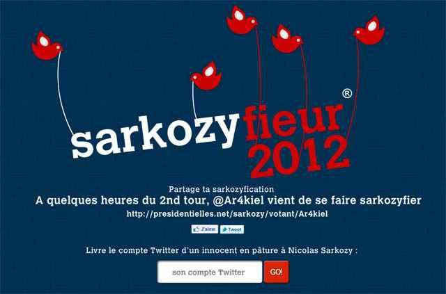 Faites-vous Sarkozyfier votre compte Twitter