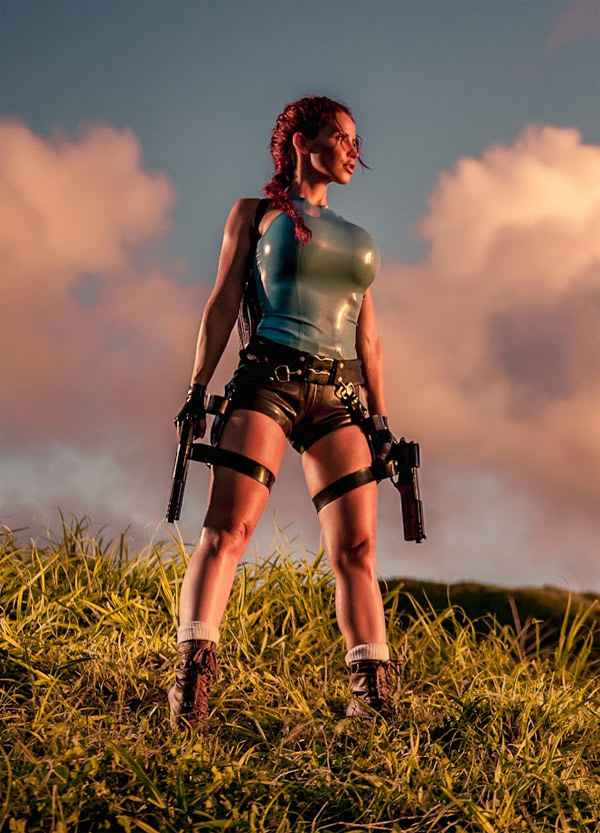 Cosplay - Tomb Rubber : Bianca Beauchamp en Lara Croft