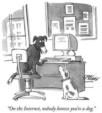 Sur Internet, personne ne sait que vous êtes un chien