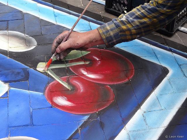 Un magnifique « street painting » de Pac Man en 3D