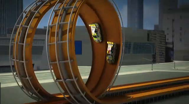 Un double looping Hot Wheels au X-Games de Los Angeles