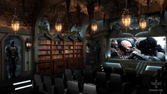 Cinéma Batcave par Elite Home Theater