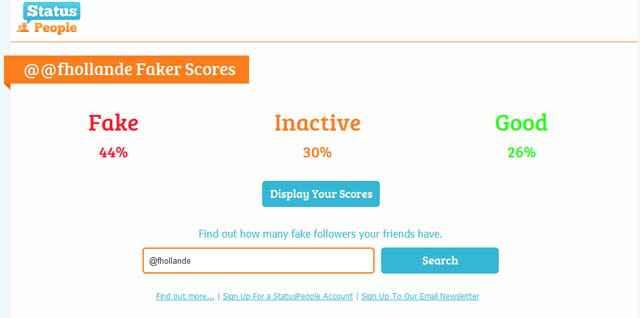 Combien de faux comptes dans vos abonnés Twitter