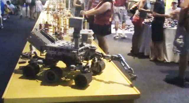 Un robot Curiosity intégralement réalisé en LEGO