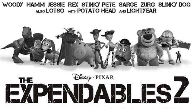 Un mashup avec Expendables 2 & Toy Story