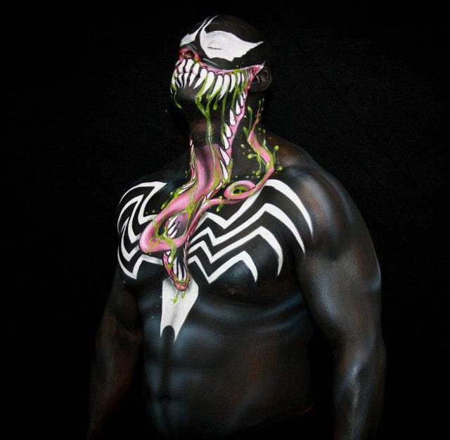 Un Bodypainting de Venom