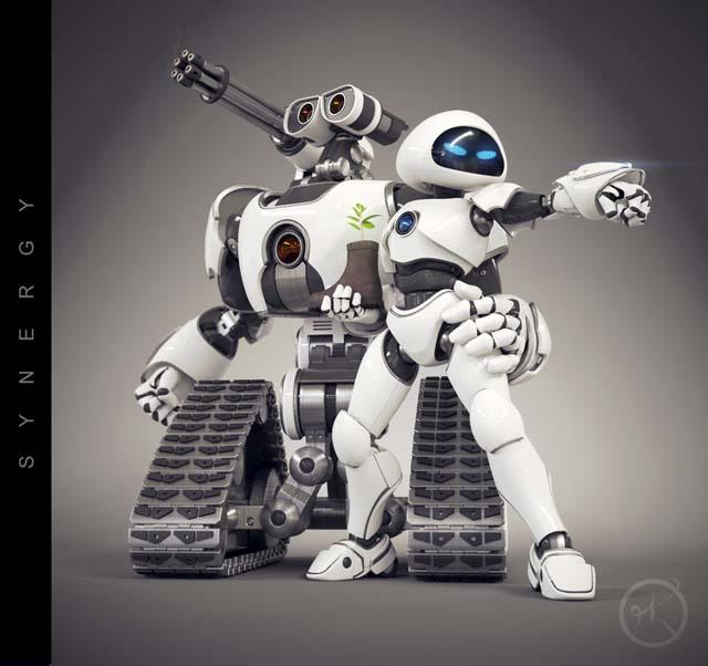 Wall-E et Eve complètement Badass
