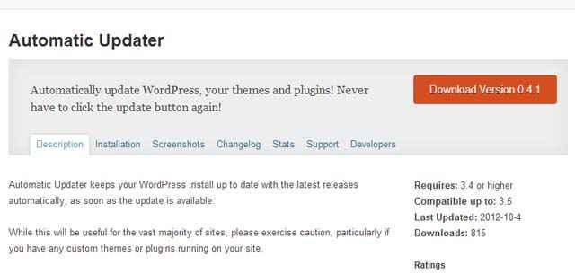 Mise à jour automatique de WordPress et des Plugins