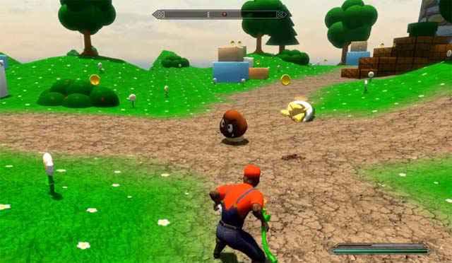 Super Mario Skyrim Mod