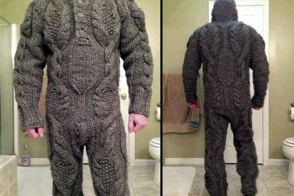 Une combinaison intégrale en laine
