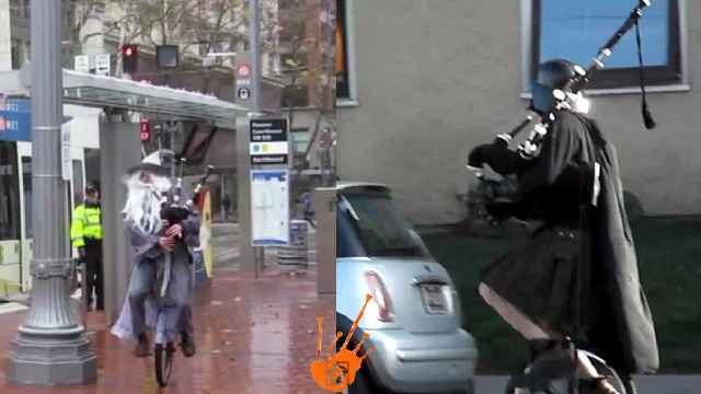 Le monocycliste geek musicien