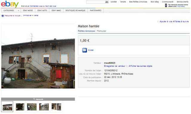 Une maison hantée à vendre pour la maudite somme de 1 euro (L'Arbresle)