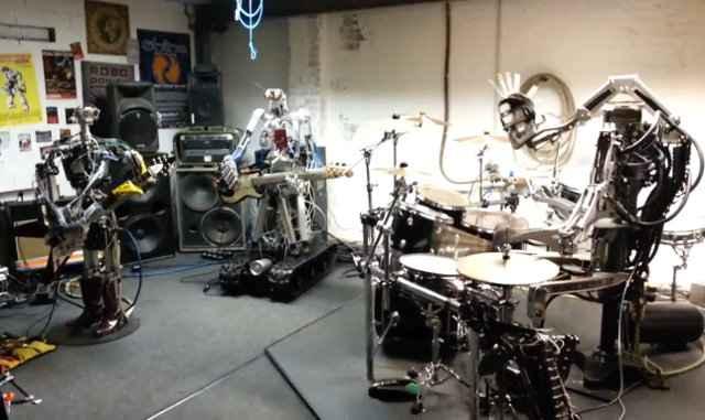 Compressorhead - Le groupe de robots métalleux